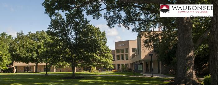 Waubonsee Community College campus trees