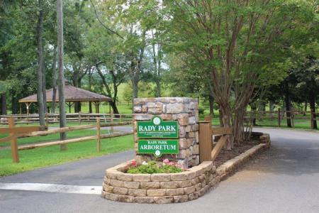 Rady Park Arboretum entrance