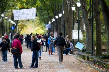University of Pennsylvania - Locust Walk, students