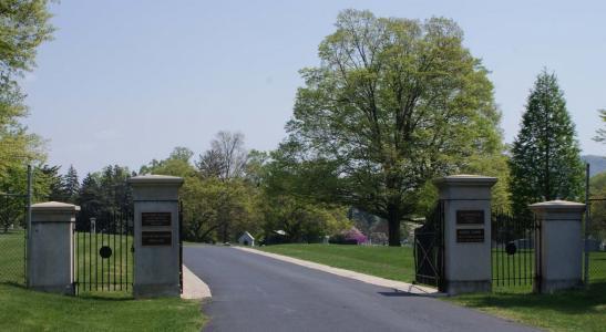 Evergreen Burial Arboretum entrance