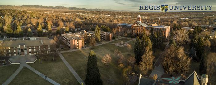 The Arboretum at Regis University - aerial view